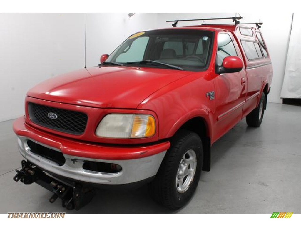 1998 Ford F150 Xlt Regular Cab 4x4 In Bright Red A09266
