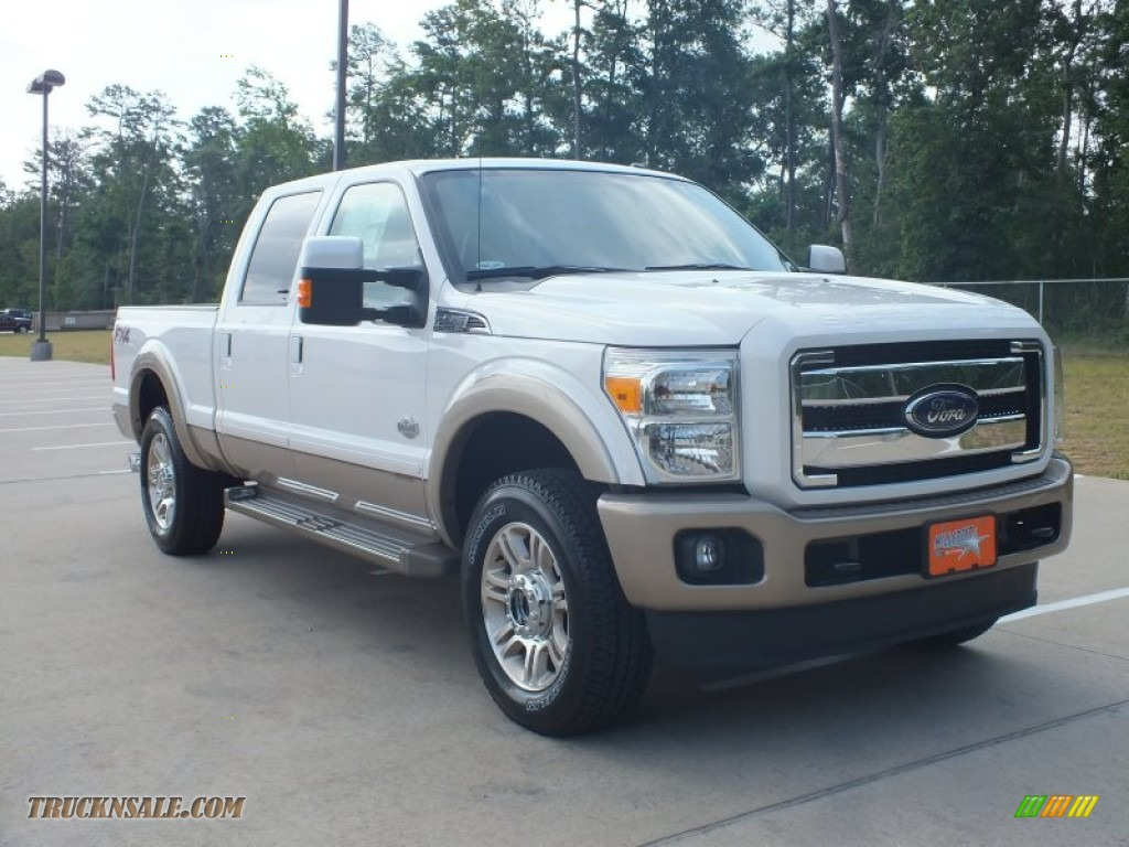 2012 Ford F250 Super Duty King Ranch Crew Cab 4x4 in White ...
