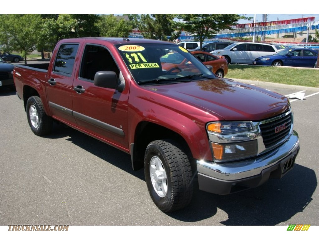 2007 gmc canyon sle crew cab 4x4 in sonoma red metallic. Black Bedroom Furniture Sets. Home Design Ideas