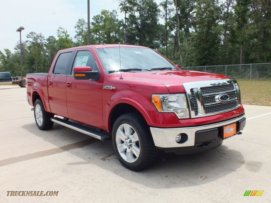2012 ford f150 lariat supercrew 4x4 in red candy metallic photo 3 c11552 truck n 39 sale. Black Bedroom Furniture Sets. Home Design Ideas