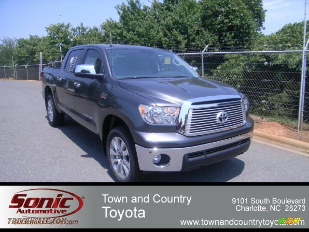 2012 toyota tundra platinum crewmax 4x4 in magnetic gray metallic 257882 truck n 39 sale. Black Bedroom Furniture Sets. Home Design Ideas