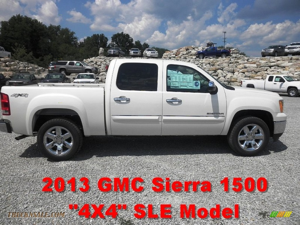 2013 gmc sierra 1500 sle crew cab 4x4 in white diamond tricoat 119195 truck n 39 sale. Black Bedroom Furniture Sets. Home Design Ideas