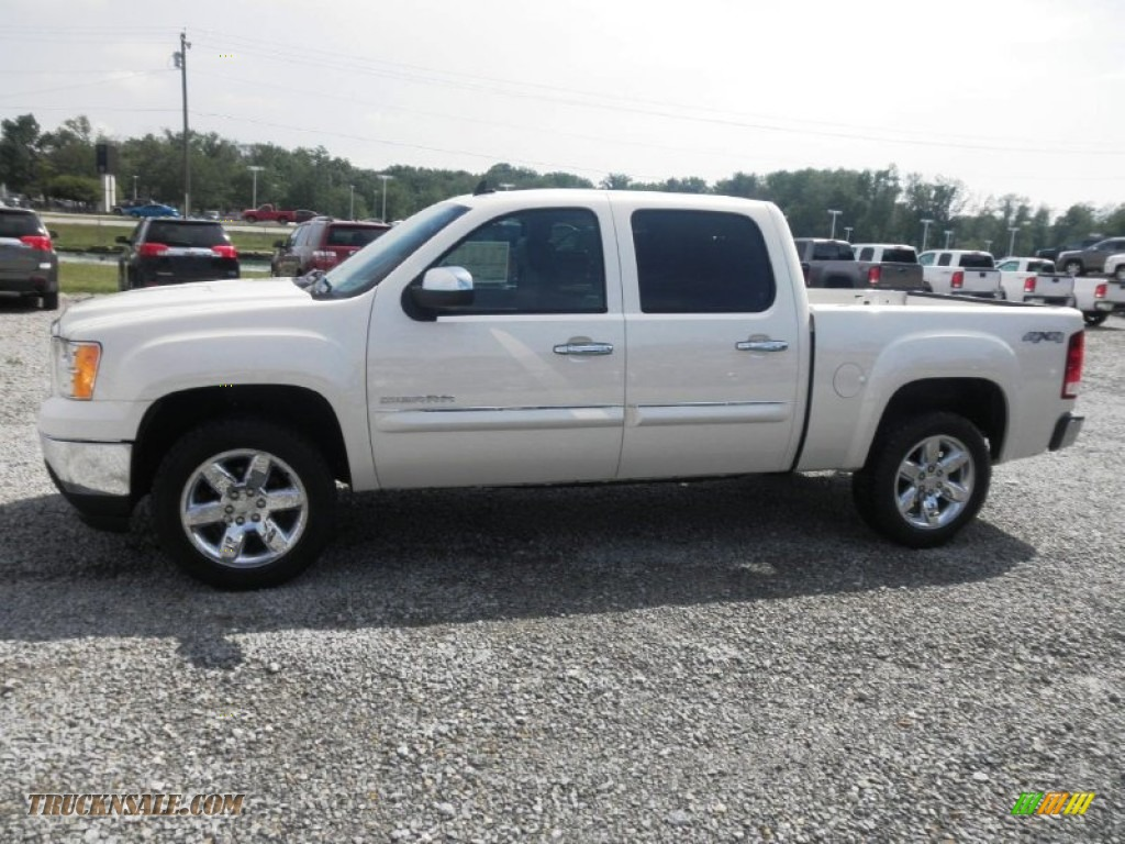 2013 Sierra 1500 SLT Crew Cab 4x4 - White Diamond Tricoat / Ebony photo #4
