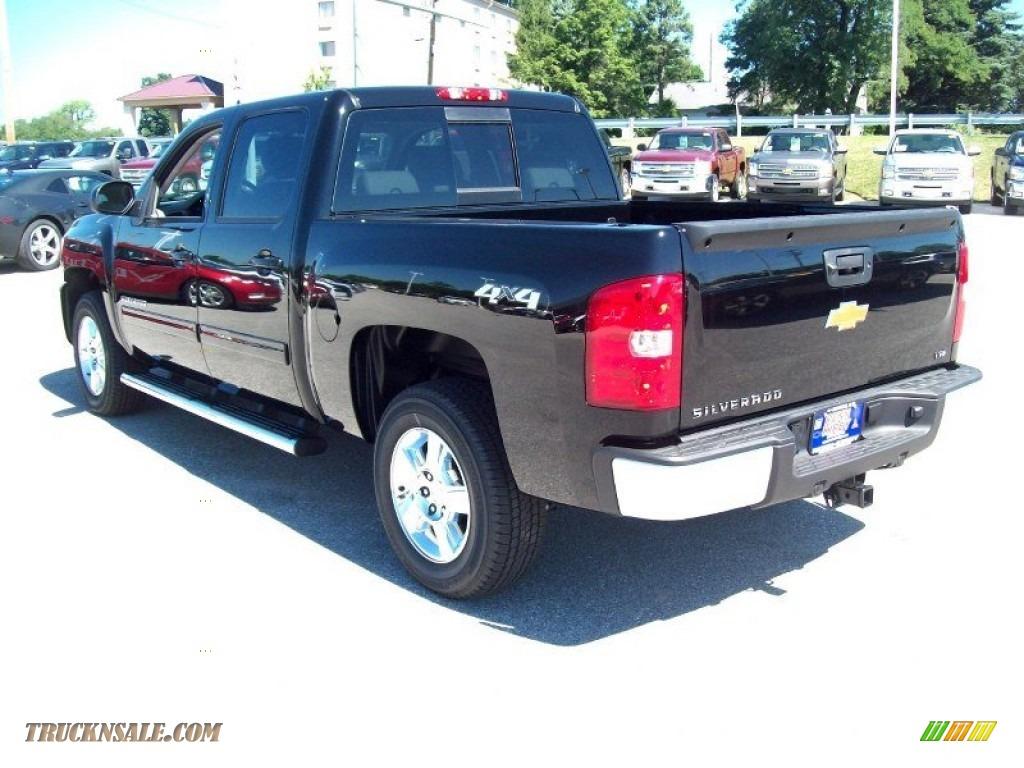 2013 chevrolet silverado 1500 ltz crew cab 4x4 in black photo 2 103764 truck n 39 sale. Black Bedroom Furniture Sets. Home Design Ideas