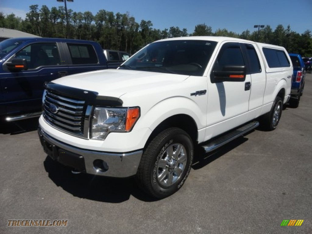 2010 ford f150 xlt supercab 4x4 in oxford white c89576 truck n 39 sale. Black Bedroom Furniture Sets. Home Design Ideas
