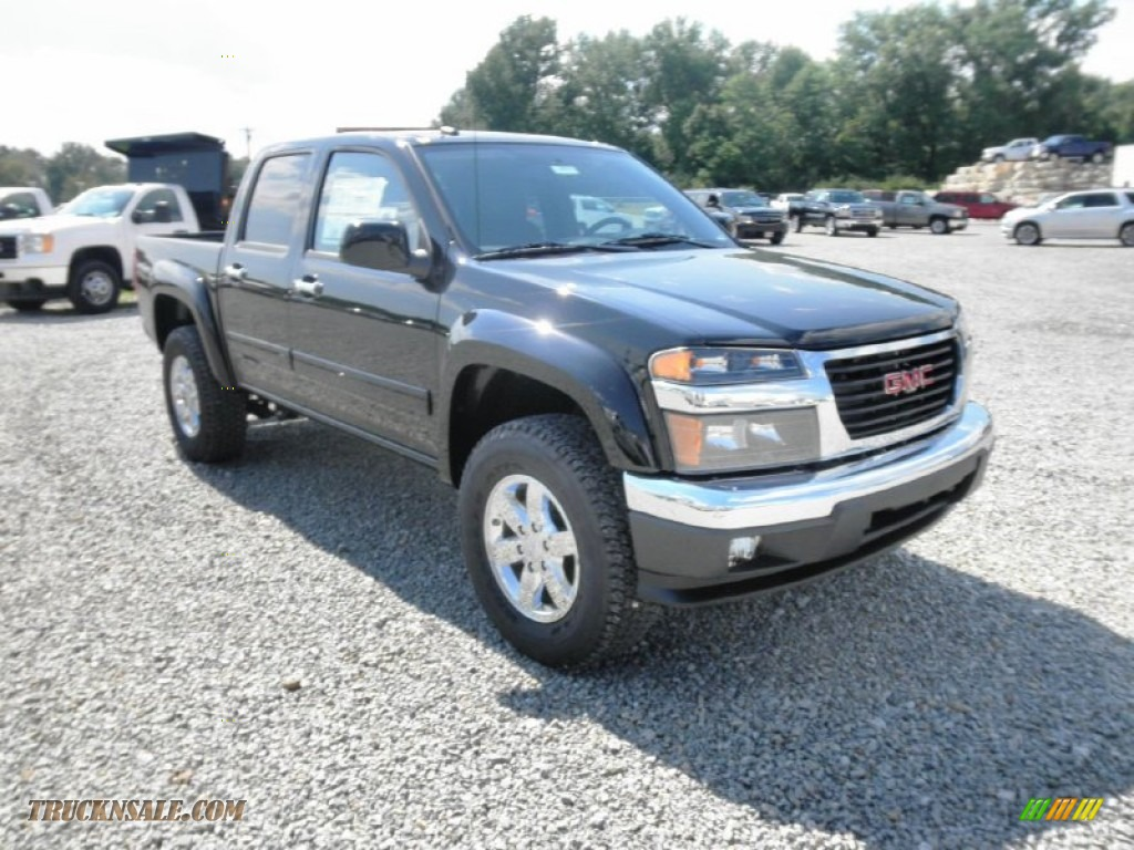 2012 gmc canyon sle crew cab 4x4 in onyx black photo 2 161828 truck n 39 sale. Black Bedroom Furniture Sets. Home Design Ideas