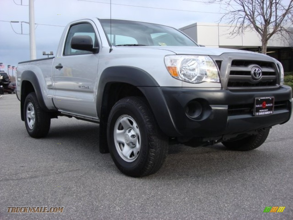 2010 toyota tacoma regular cab 4x4 in silver streak mica 712516 truck n 39 sale. Black Bedroom Furniture Sets. Home Design Ideas
