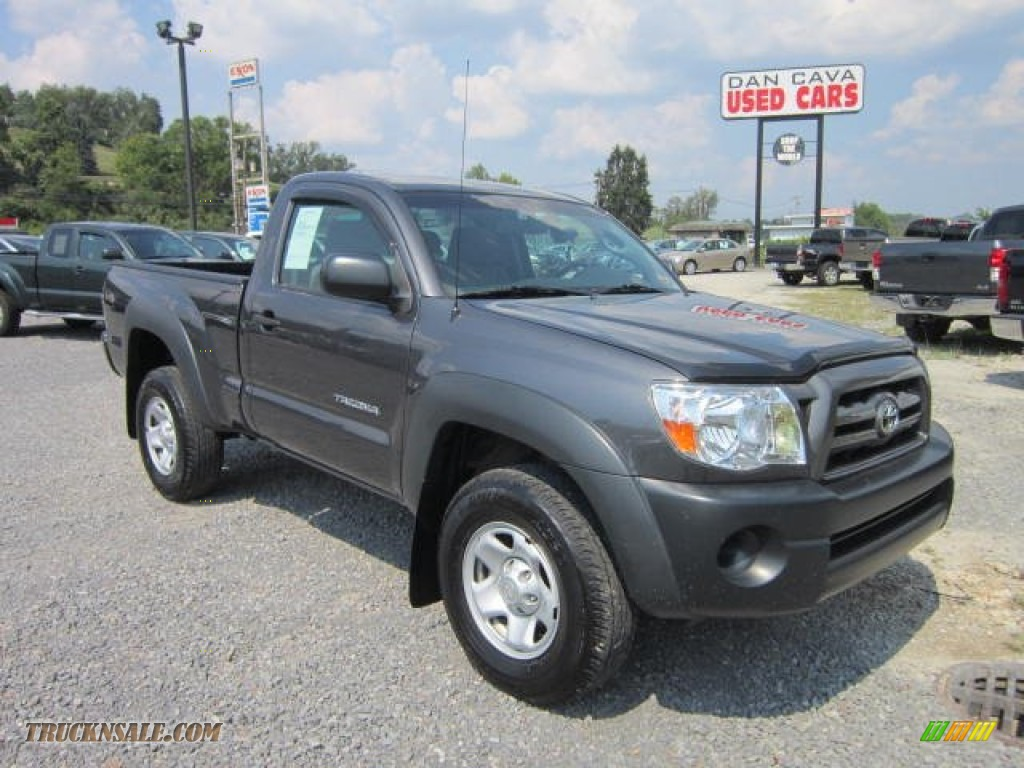 2010 toyota tacoma regular cab 4x4 in magnetic gray metallic 721318 truck n 39 sale. Black Bedroom Furniture Sets. Home Design Ideas