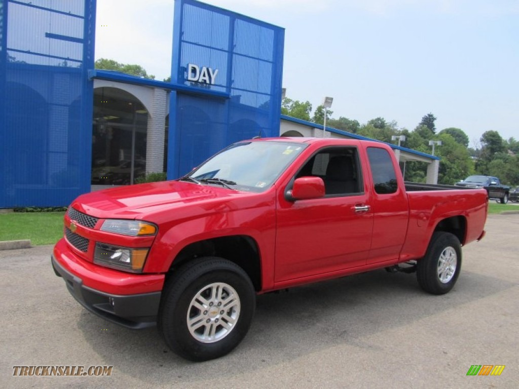 2012 Chevrolet Colorado Lt Extended Cab 4x4 In Victory Red