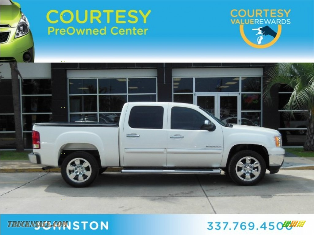 2011 Gmc Sierra 1500 Sle Crew Cab In White Diamond Tricoat Photo 2 370751 Truck N 39 Sale