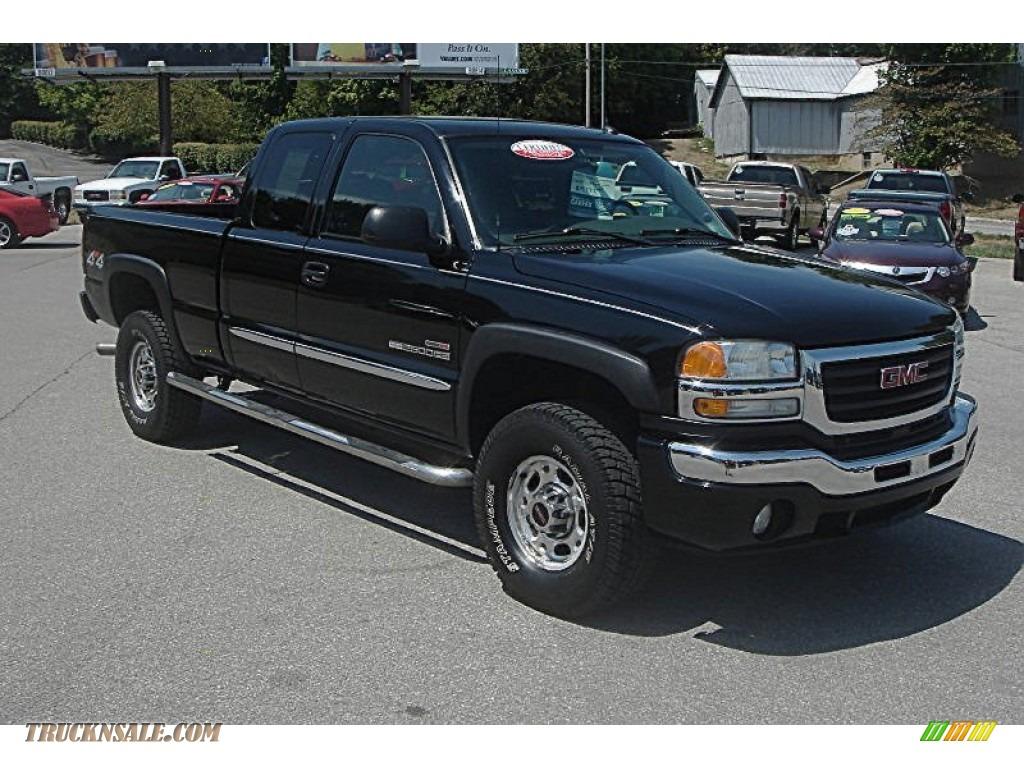 2004 gmc sierra 2500hd slt extended cab 4x4 in onyx black 363990 truck n 39 sale. Black Bedroom Furniture Sets. Home Design Ideas