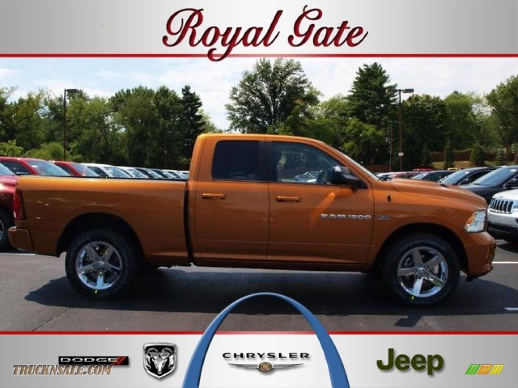 2012 Dodge Ram 1500 Sport Quad Cab 4x4 In Tequila Sunrise