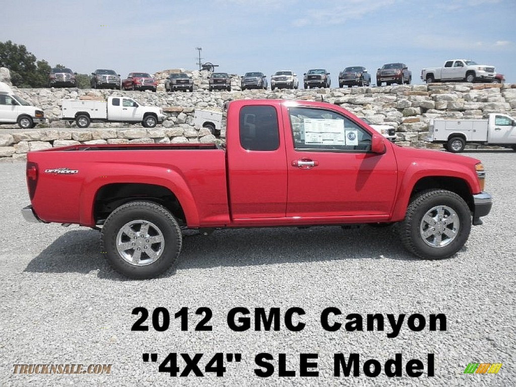 2012 gmc canyon sle extended cab 4x4 in fire red 165995 truck n 39 sale. Black Bedroom Furniture Sets. Home Design Ideas