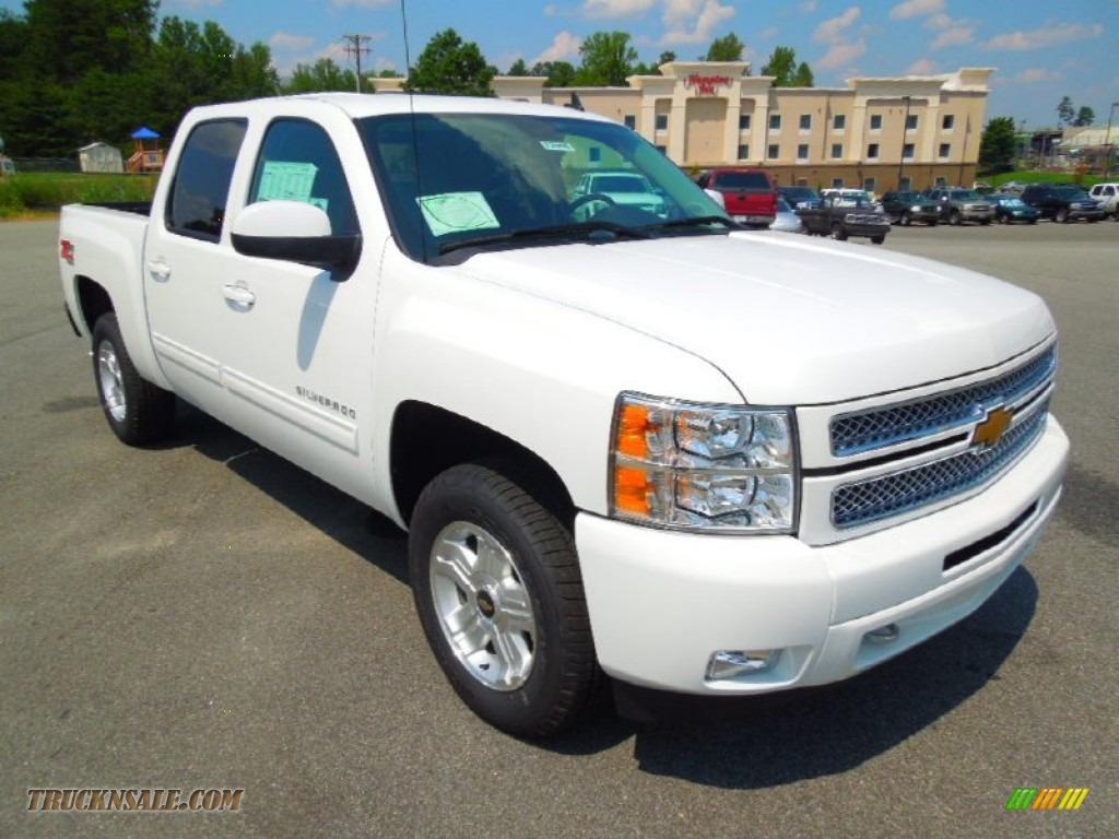 2013 chevrolet silverado 1500 ltz crew cab 4x4 in summit white 102123 truck n 39 sale. Black Bedroom Furniture Sets. Home Design Ideas