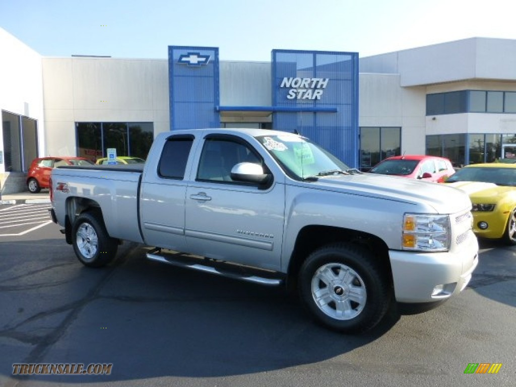 2011 chevrolet silverado 1500 lt extended cab 4x4 in sheer silver metallic 294282 truck n 39 sale. Black Bedroom Furniture Sets. Home Design Ideas