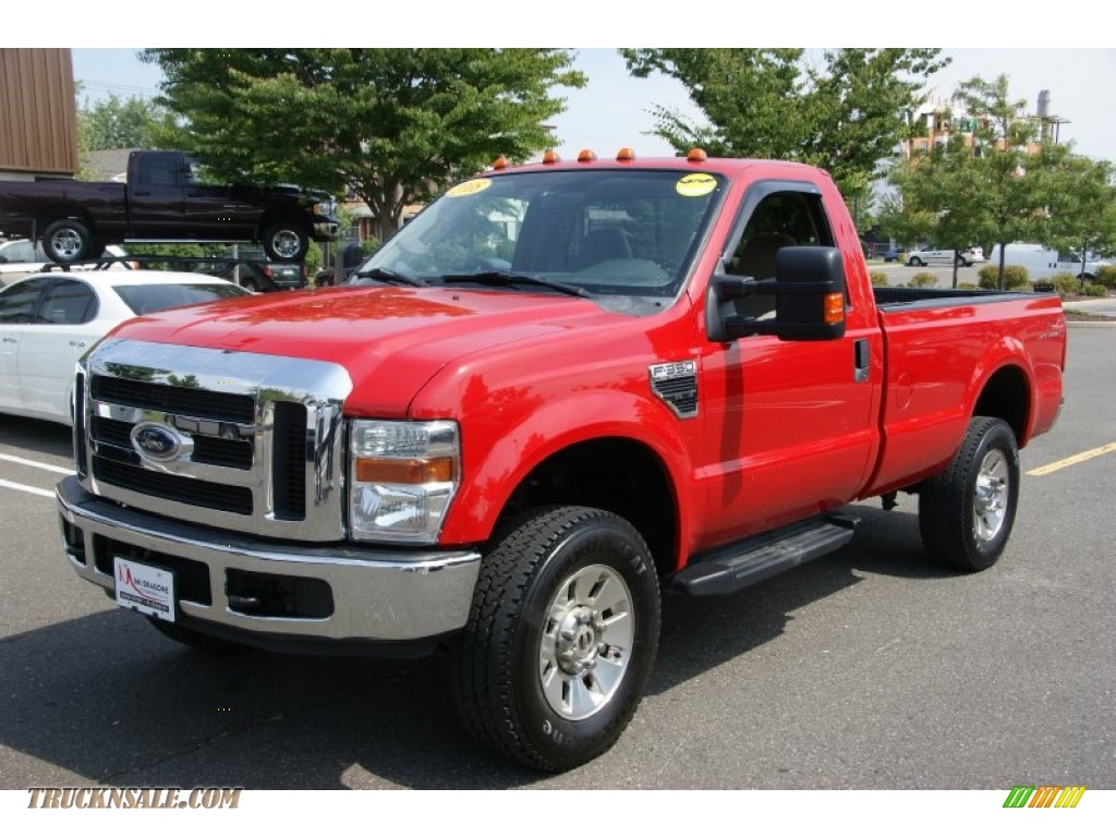 Red 2008 ford f250 super duty xlt regular cab 4x4 with medium stone apps directories