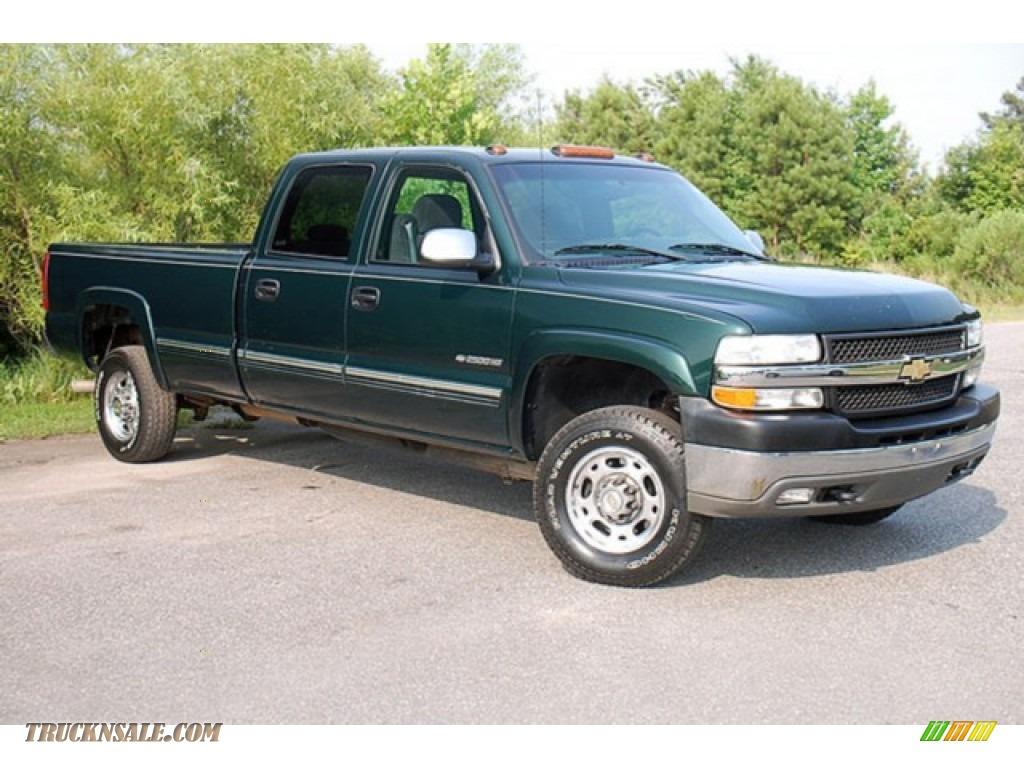 2001 chevrolet silverado 2500hd ls crew cab 4x4 in forest green metallic 211868 truck n 39 sale. Black Bedroom Furniture Sets. Home Design Ideas