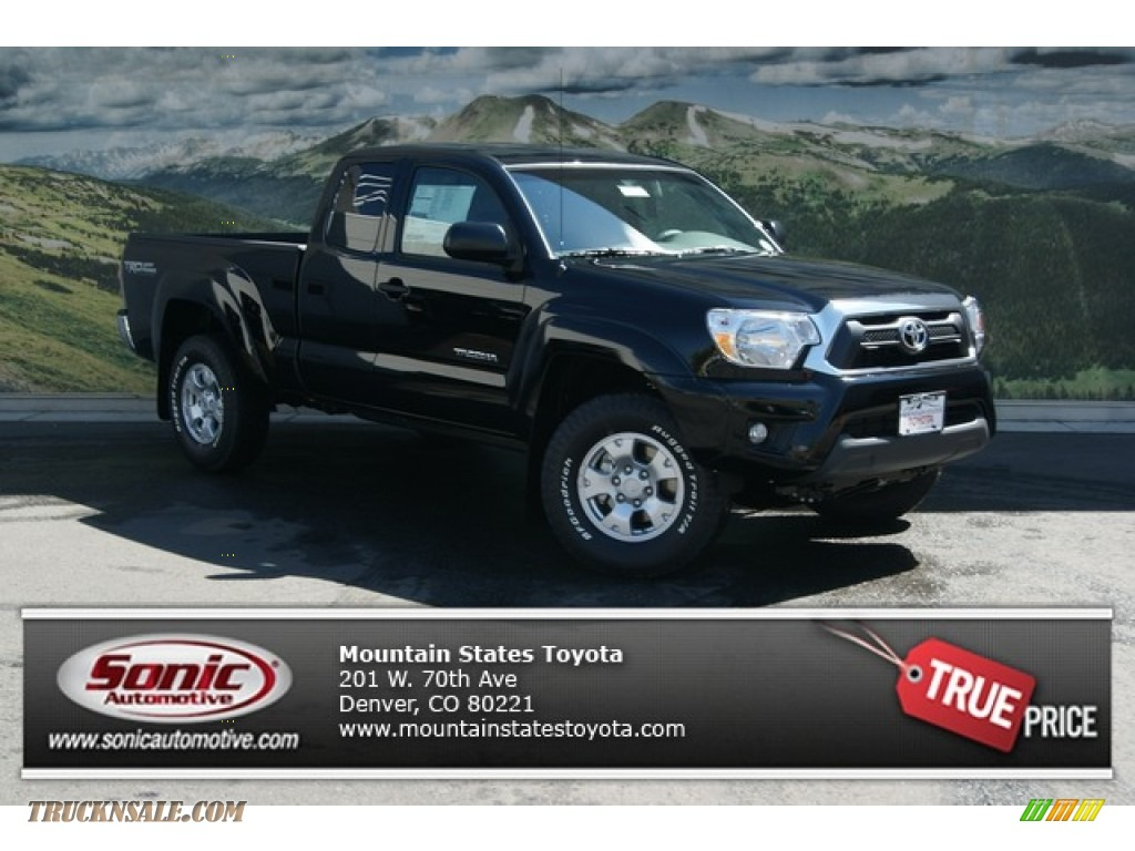 2013 Toyota Tacoma V6 Trd Access Cab 4x4 In Black 048844