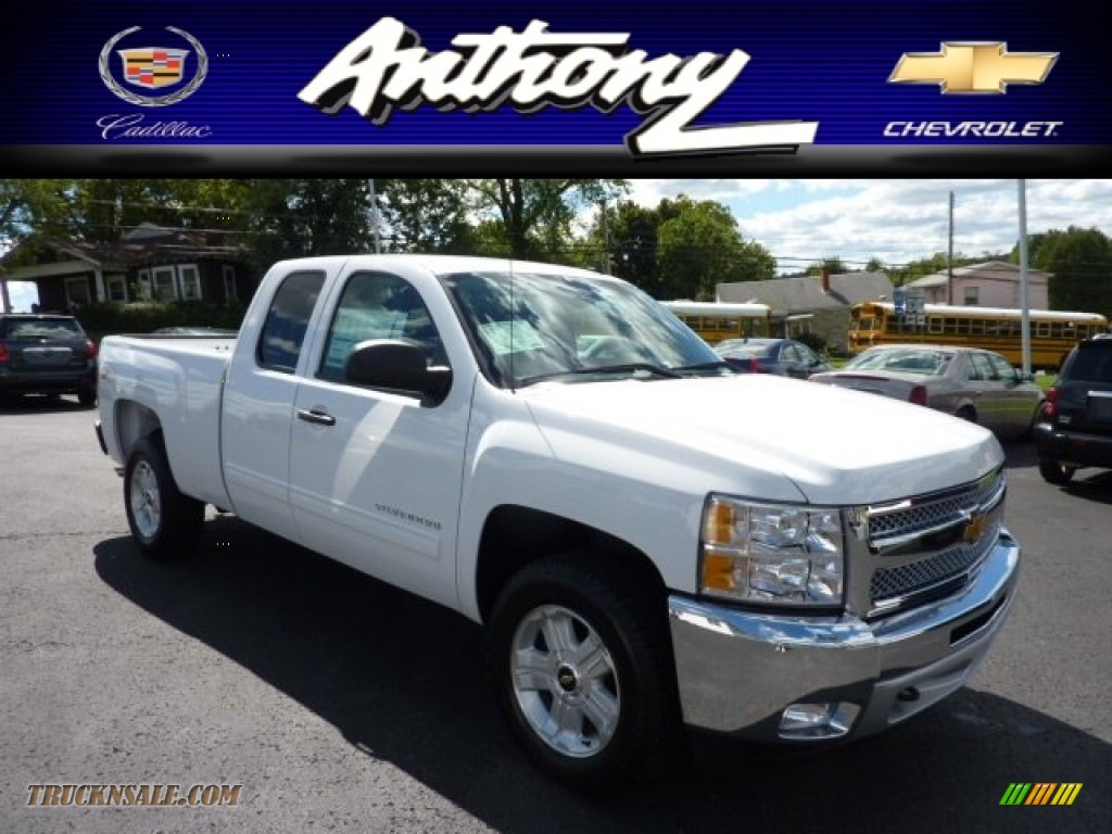 2013 chevrolet silverado 1500 lt extended cab 4x4 in summit white 148906 truck n 39 sale. Black Bedroom Furniture Sets. Home Design Ideas