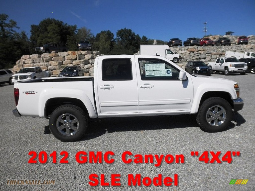 2012 gmc canyon sle crew cab 4x4 in summit white 169983 truck n 39 sale. Black Bedroom Furniture Sets. Home Design Ideas