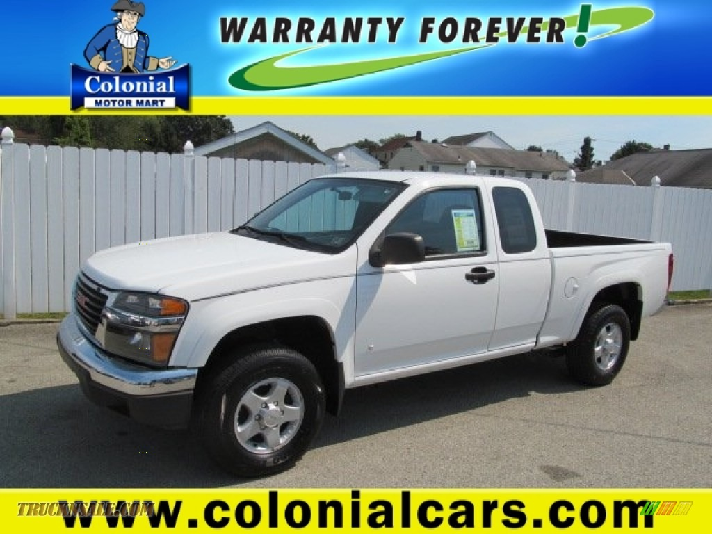 2006 gmc canyon sle extended cab 4x4 in olympic white for Colonial motors indiana pa