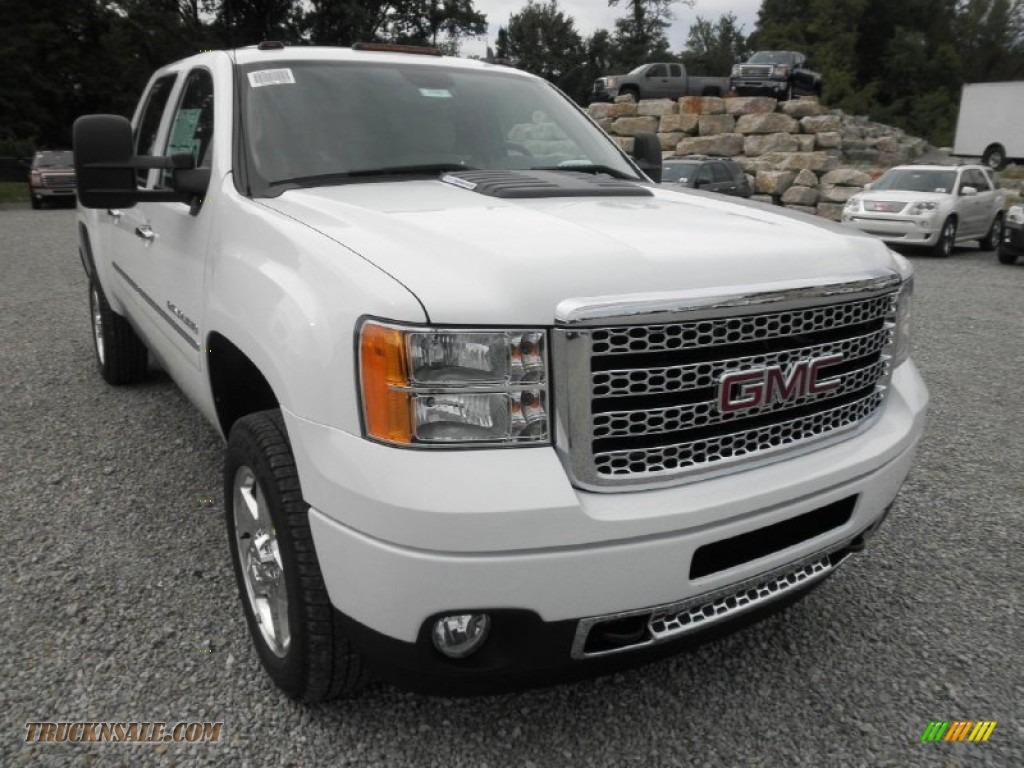 2013 gmc sierra 2500hd denali crew cab 4x4 in summit white photo 2 131923 truck n 39 sale. Black Bedroom Furniture Sets. Home Design Ideas