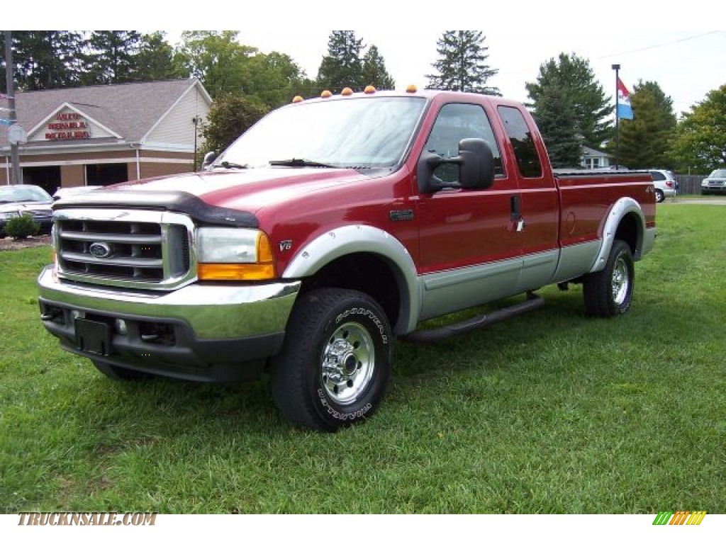 2001 ford f250 super duty xlt supercab 4x4 in toreador red metallic d14465 truck n 39 sale. Black Bedroom Furniture Sets. Home Design Ideas
