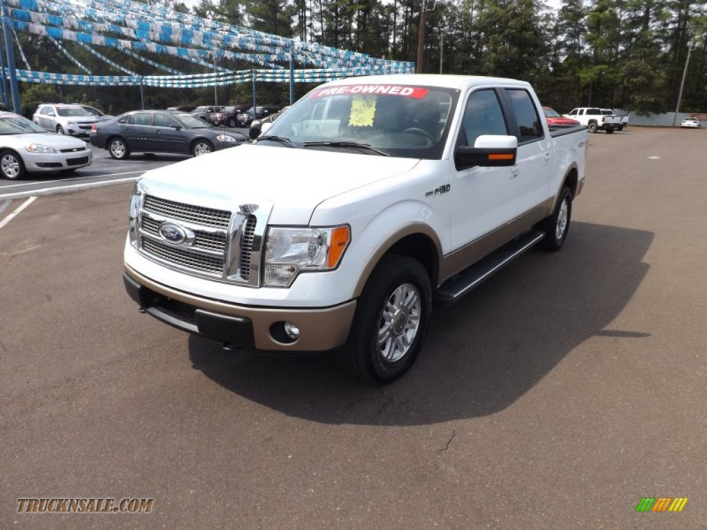 2012 ford f150 lariat supercrew 4x4 in oxford white d04661 truck n 39 sale. Black Bedroom Furniture Sets. Home Design Ideas