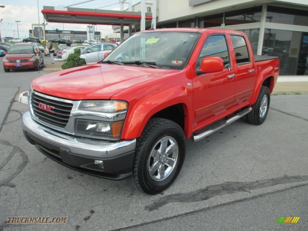 2010 gmc canyon sle crew cab 4x4 in fire red
