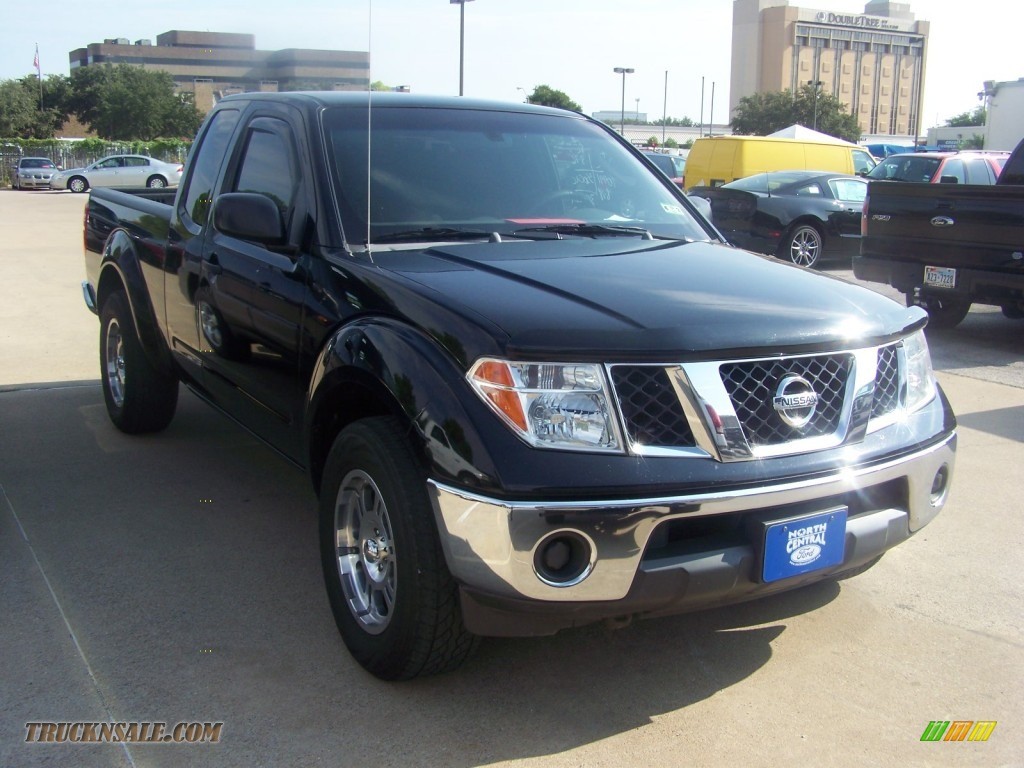 2005 nissan frontier se king cab in super black 466208 truck n. Black Bedroom Furniture Sets. Home Design Ideas