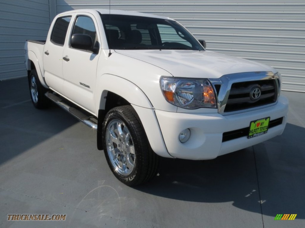 2010 toyota tacoma v6 tss prerunner double cab in super white 098474 truck n 39 sale. Black Bedroom Furniture Sets. Home Design Ideas