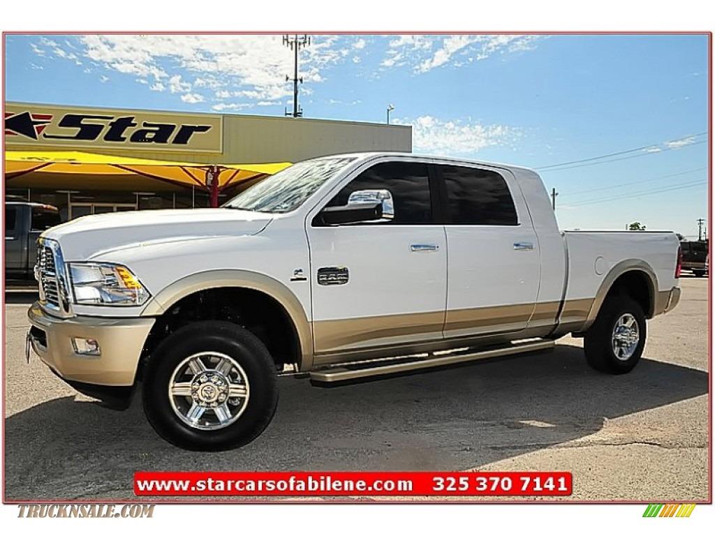 2011 Dodge Ram 2500 Hd Laramie Longhorn Mega Cab 4x4 In Bright White 629657 Truck N 39 Sale