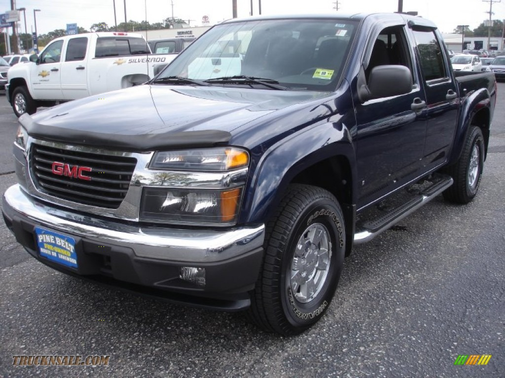 2007 gmc canyon sle crew cab 4x4 in midnight blue metallic. Black Bedroom Furniture Sets. Home Design Ideas