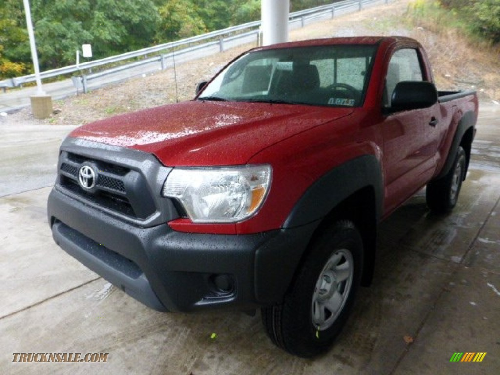 2013 toyota tacoma regular cab 4x4 in barcelona red metallic photo 5 013896 truck n 39 sale. Black Bedroom Furniture Sets. Home Design Ideas