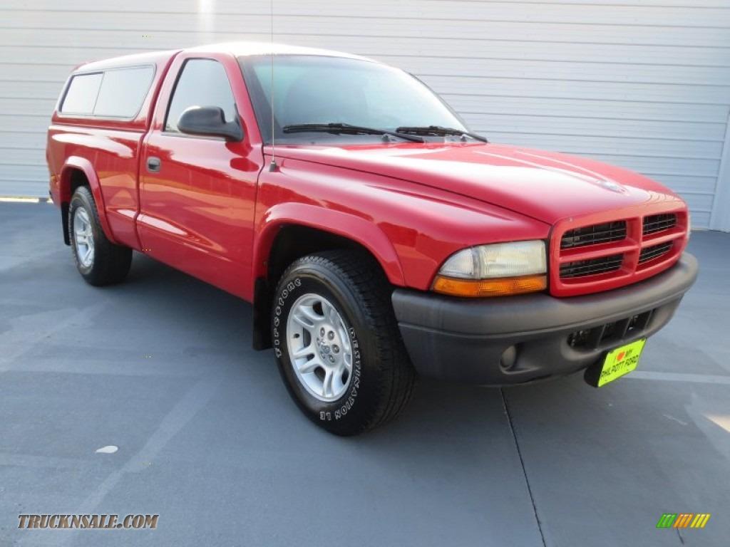 2003 dodge dakota sxt regular cab in flame red 159556 truck n 39 sale. Black Bedroom Furniture Sets. Home Design Ideas