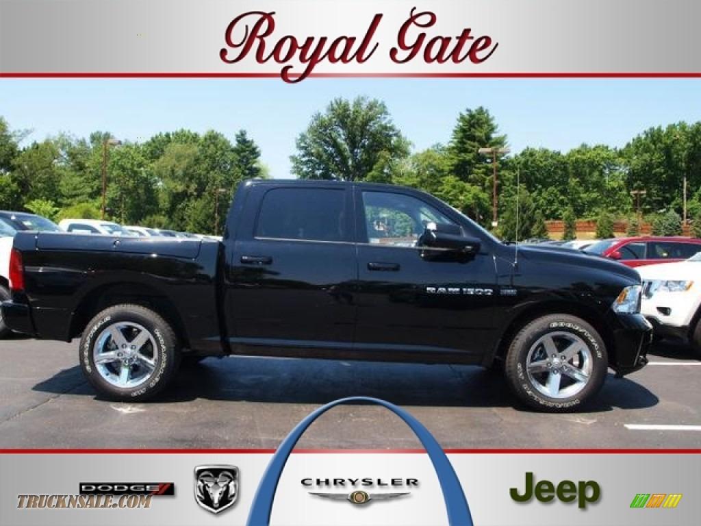 2012 dodge ram 1500 sport crew cab 4x4 in black 270643 for Royal chrysler motors inc