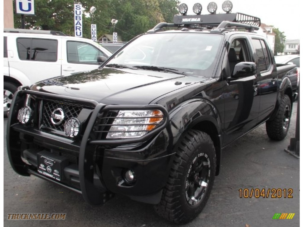 2012 nissan frontier pro 4x crew cab 4x4 in super black 419763 truck n 39 sale. Black Bedroom Furniture Sets. Home Design Ideas