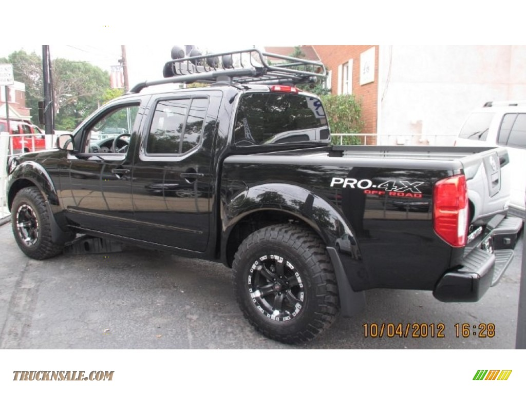 2012 nissan frontier pro 4x crew cab 4x4 in super black photo 3 419763 truck n 39 sale. Black Bedroom Furniture Sets. Home Design Ideas