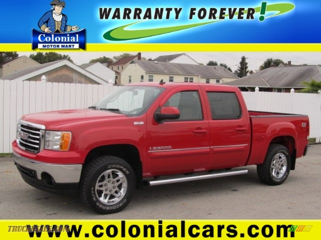 2008 gmc sierra 1500 slt crew cab 4x4 in fire red 306680 for Colonial motors indiana pa