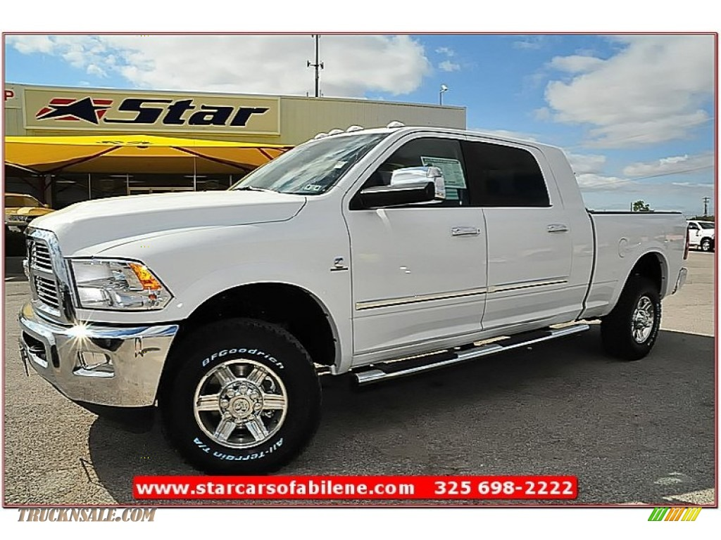 2012 dodge ram 2500 hd laramie limited mega cab 4x4 in bright white 296315 truck n 39 sale. Black Bedroom Furniture Sets. Home Design Ideas