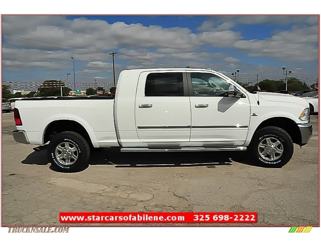2012 dodge ram 2500 hd laramie limited mega cab 4x4 in bright white photo 7 296315 truck n. Black Bedroom Furniture Sets. Home Design Ideas