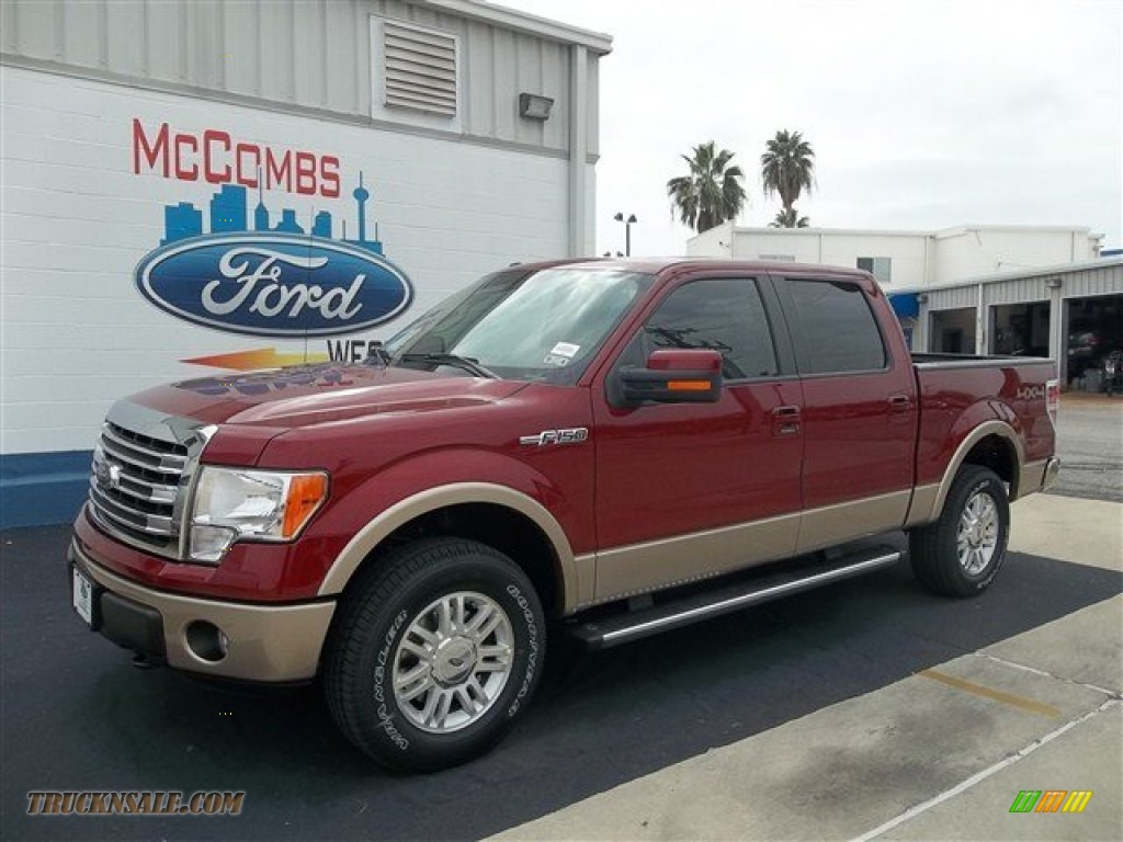 2013 Ford F150 Lariat SuperCrew 4x4 In Ruby Red Metallic Photo 5 D23268