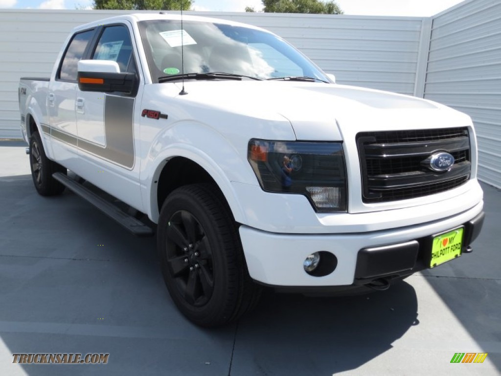 Oxford White / FX Sport Appearance Black/Red Ford F150 FX4 SuperCrew 4x4