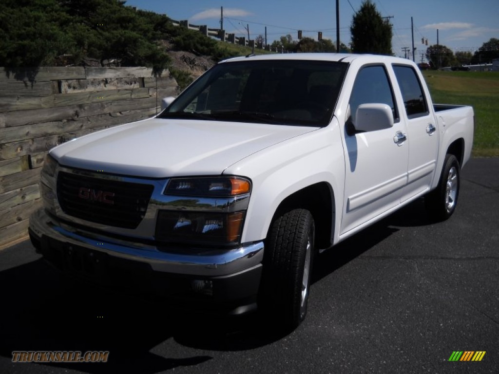 2012 gmc canyon sle crew cab in summit white 169727 truck n 39 sale. Black Bedroom Furniture Sets. Home Design Ideas