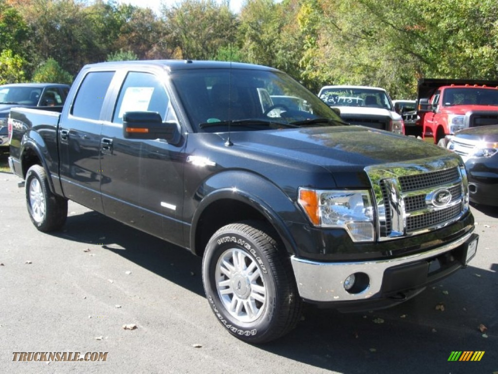 2012 ford f150 lariat supercrew 4x4 in tuxedo black metallic a98314 truck n 39 sale. Black Bedroom Furniture Sets. Home Design Ideas