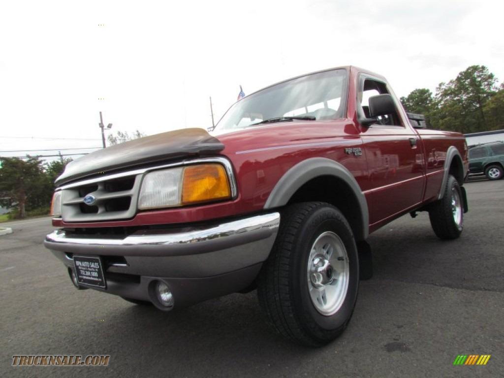 1997 ford ranger xlt regular cab 4x4 in toreador red metallic a12447 truck n 39 sale. Black Bedroom Furniture Sets. Home Design Ideas