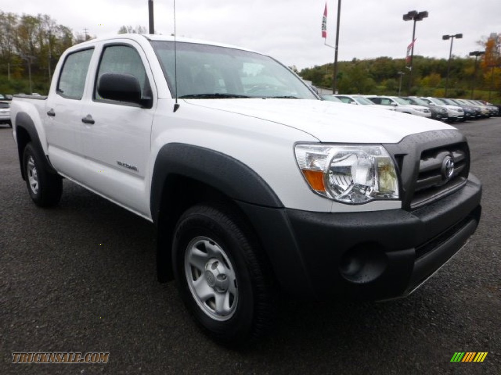 2010 toyota tacoma v6 double cab 4x4 in super white 054597 truck n 39 sale. Black Bedroom Furniture Sets. Home Design Ideas