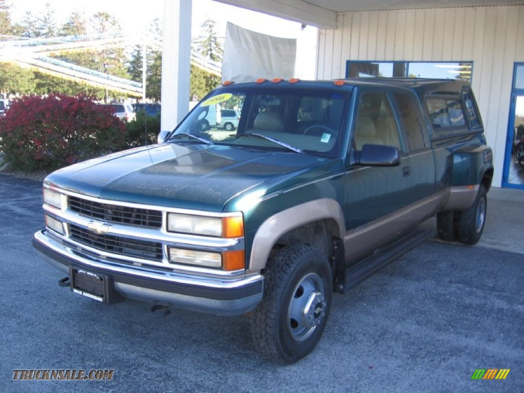 1996 chevrolet c k 3500 k3500 extended cab 4x4 dually in emerald green metallic photo 2. Black Bedroom Furniture Sets. Home Design Ideas