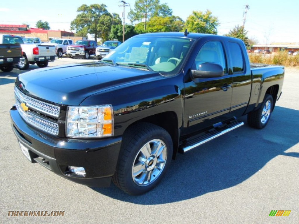 2013 chevrolet silverado 1500 ltz extended cab 4x4 in black photo 2 164503 truck n 39 sale. Black Bedroom Furniture Sets. Home Design Ideas
