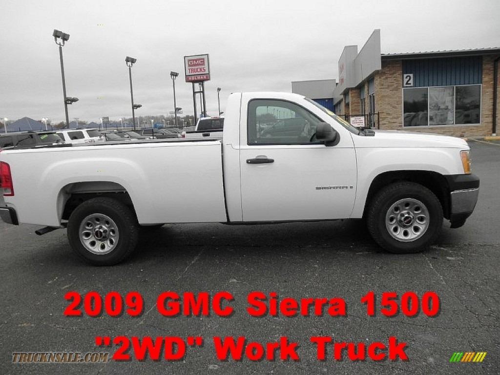 2009 gmc sierra 1500 work truck regular cab in summit white photo 6 145808 truck n 39 sale. Black Bedroom Furniture Sets. Home Design Ideas